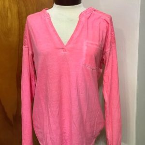 Maurices Pink Long Sleeve Shirt with Pocket